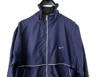 0cc56ae6f3 90 s Nike Windbreaker Vintage Nike Jacket Nike Windrunner Nike Sweater Hip  Hop Streetwear Blue White Nike Track Jacket Large Nike Tracksuit