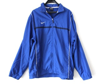90 s Nike Windbreaker Vintage Nike Jacket Retro Nike Sweatshirt Rare Nike  Streetwear Blue Nike Track Jacket Hip Hop Nike Swoosh Size L 547dbf2f9