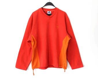 364a966f39 Vintage Adidas Sweatshirt 90 s Adidas Jumper Hip Hop Streetwear Red Orange  Adidas Sweater Retro Unisex European Model Adidas Track Jacket