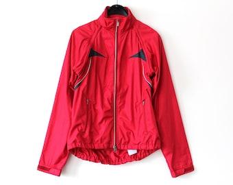 90 s Nike Windbreaker Vintage Nike Jacket Nike Sweatshirt Hip Hop  Streetwear Red Nike Tracksuit Nike Activewear Nike Windrunner Size M 54c2b7e41
