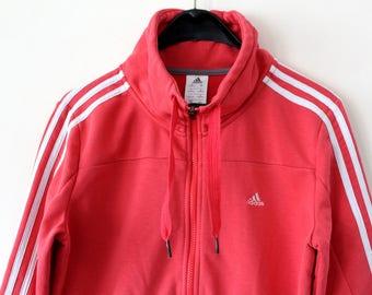 0af3ccaeb93f Vintage Adidas Jacket Coral Adidas Windbreaker Rare Adidas Sweatshirt Adidas  Sport Jacket Retro Hip Hop Adidas Tennis Adidas Tracksuit Sz M