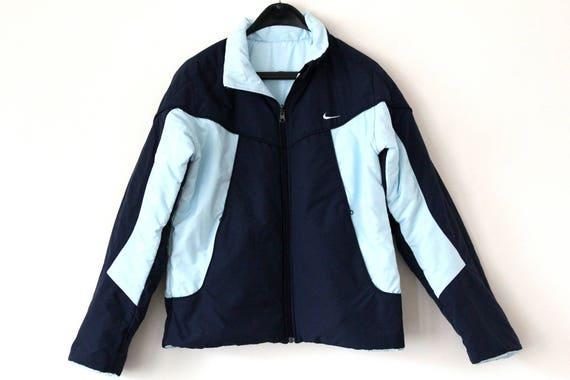 ef418c599c96d Veste réversible Nike 90 Nike Puffer bleu Nike manteau d hiver Retro Nike  Coupe-vent Vintage ...
