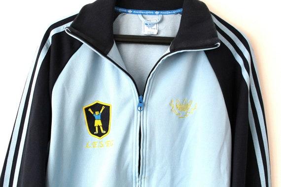 Vintage Adidas Jacke blau Adidas Windbreaker Trefoil Adidas Trainingsanzug seltene Adidas Sweatshirt Adidas SportJacke Adidas Tennis