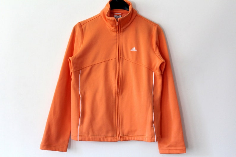 32b2c19335f92 Orange Adidas Track Jacket Vintage Adidas Windbreaker Adidas Tracksuit  Adidas Jacket Hip Hop Streetwear Adidas Sweatshirt Adidas Tennis