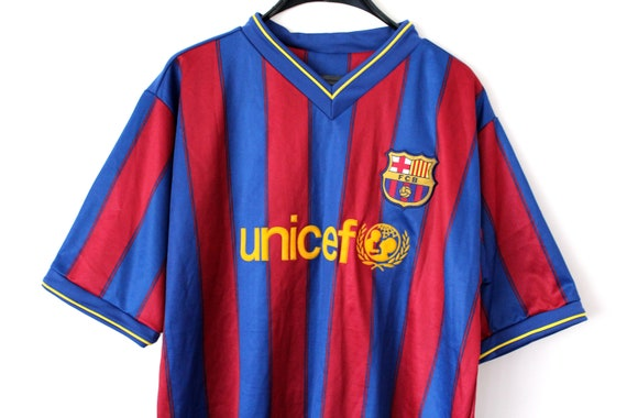 check out 9a8fe 4e76a Vintage FCB Jersey Spain Football Team Shirt Barcelona Football Jersey  Soccer Jersey Red Blue Football Shirt Training Shirt Size XL