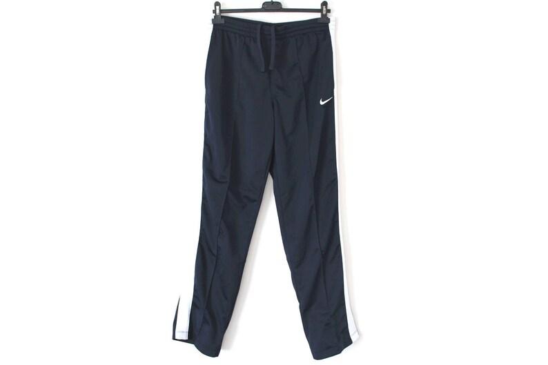 Vintage 90 s Nike Pants Navy Blue Sport Pants Nike Track Pants Nike Running Trousers  Nike Swoosh Activewear Nike Joggers Size M 92e4bb826
