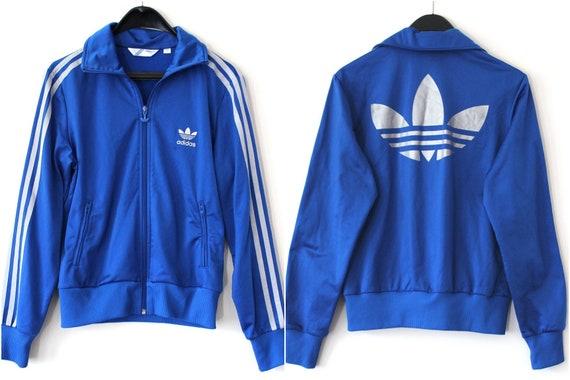 Vintage Adidas Dreiblatt Jacke Blau Silber Adidas Windbreaker Adidas  Trainingsanzug seltene Adidas Sweatshirt Adidas Track Top-große Logo Hip  Hop Tanz 74654f9628