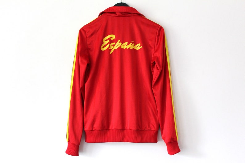 Vintage Adidas Jacket Red Yellow Adidas Spain Football  bcefd7211