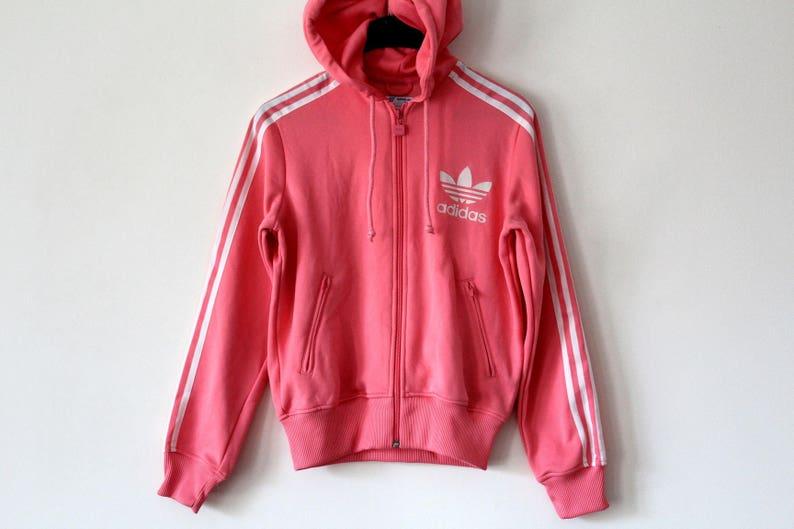 0eac80f2ac1b1 Vintage Adidas Sweatshirt 90's Adidas Hoodie Pink Hip Hop Adidas Streetwear  Rare Adidas Jacket Retro Adidas Top Adidas Tracksuit Size M