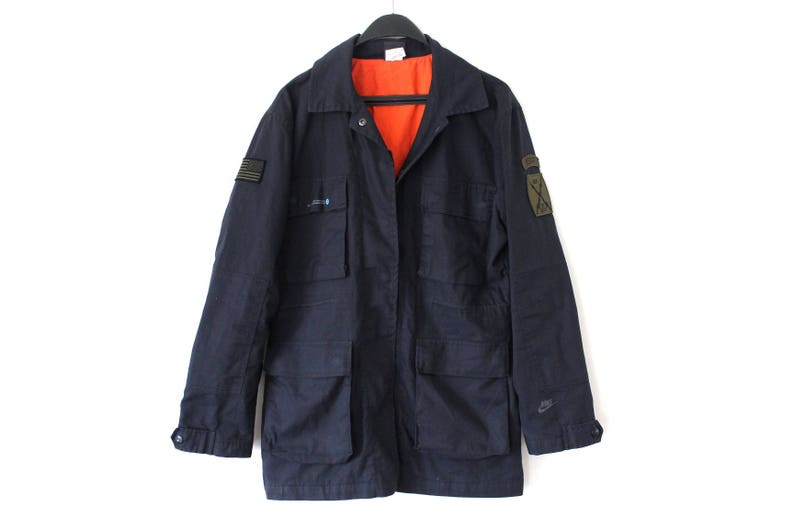 b8682af9a4d0 Vintage Nike Jacket 90 s Nike Army Jacket Black Nike
