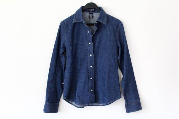 Vintage Ralph Lauren chemise en Denim des années 90 Ralph   Etsy d548fcd31637