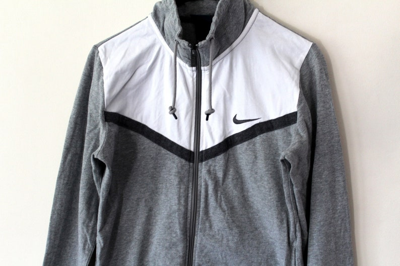 Gray White Nike Sweatshirt Vintage 90 s Nike Jacket Nike  146be379b