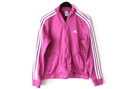 90cc5e62751 Vintage Adidas Jacket Pink White Adidas Windbreaker Shiny | Etsy