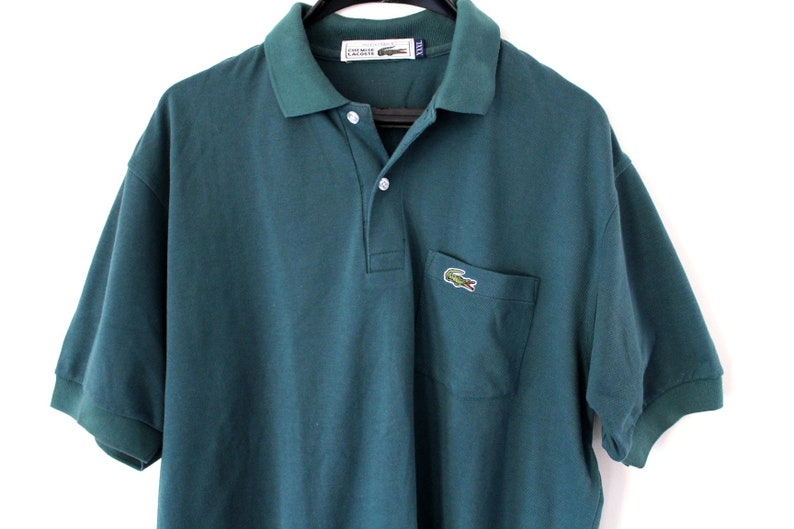5ca53ea19ad9 Vintage Chemise Lacoste Shirt Made in France Green Lacoste