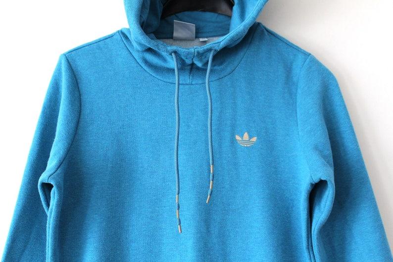 20c1a896e2b30 Vintage Adidas Trefoil Hoodie Adidas Hip Hop Streetwear Rare Adidas  Sweatshirt Adidas Pullover Blue Adidas Windbreaker Adidas Tracksuit