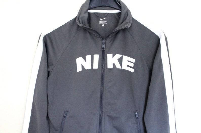 Vintage Nike Jacket Gray White Nike Windbreaker Retro Nike Tracksuit Big  Logo Rare Nike Sweatshirt 90 s Nike Tennis Nike Track ... 3eb8dcd77