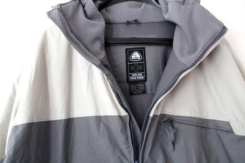 6bdf31574 Vintage 90's Nike ACG Jacket Gray Nike Windbreaker Nike Extreme Jacket Nike  Swoosh Trainer Winter Ski Mountain Hooded Sport Jacket Size L