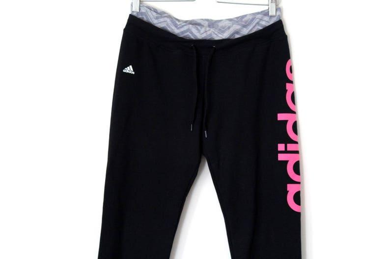 50aec7f9fb0d4 90's Adidas Sport Pants Vintage Adidas Track Pants Black Pink Adidas  Tracksuit Womens Adidas Running Jogging Gym Pants Rare Adidas Trousers