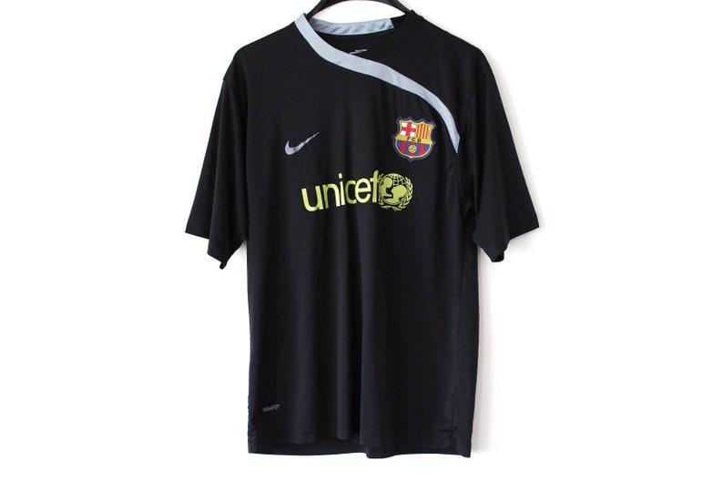 check out 3c130 c9c4e Jahrgang FC Barcelona Shirt schwarz gelb Spanien Fußball Jersey Retro Nike  Fußball-t-shirt Nike Fußball Jersey Sport Fußball Shirt Größe M