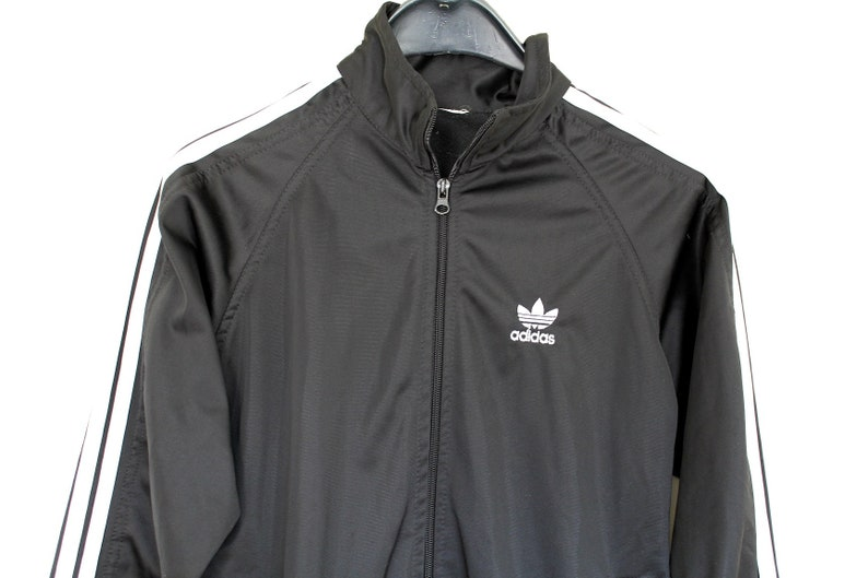 e0f695ed461e2 Vintage Adidas Track Jacket Rare Adidas Sweatshirt Hip Hop Streetwear Black  White Adidas Tracksuit Adidas Windbreaker Adidas Tennis Top