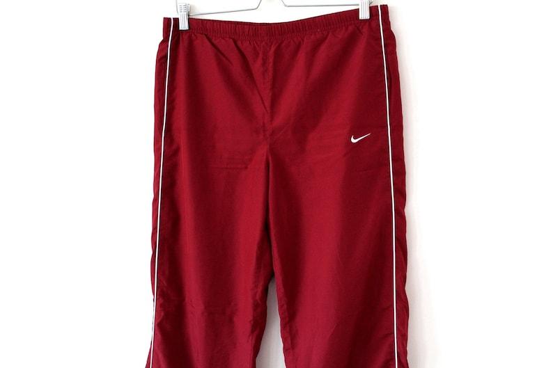 a17e06b61f7e Vintage 90 s Nike Pants Burgundy Nike Windbreaker Nike