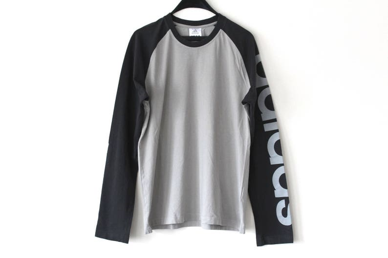9c98b23cdee39 Vintage Adidas Sweatshirt 90's Adidas Sportswear Retro Gray Hip Hop Adidas  Streetwear Long Sleeve Adidas Shirt Big Logo Adidas Sweater Sz L