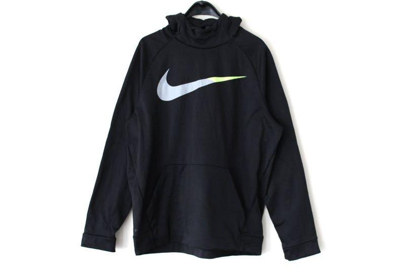 8d94327c8d Vintage Nike Sweatshirt 90 s Nike Hoodie Black Nike