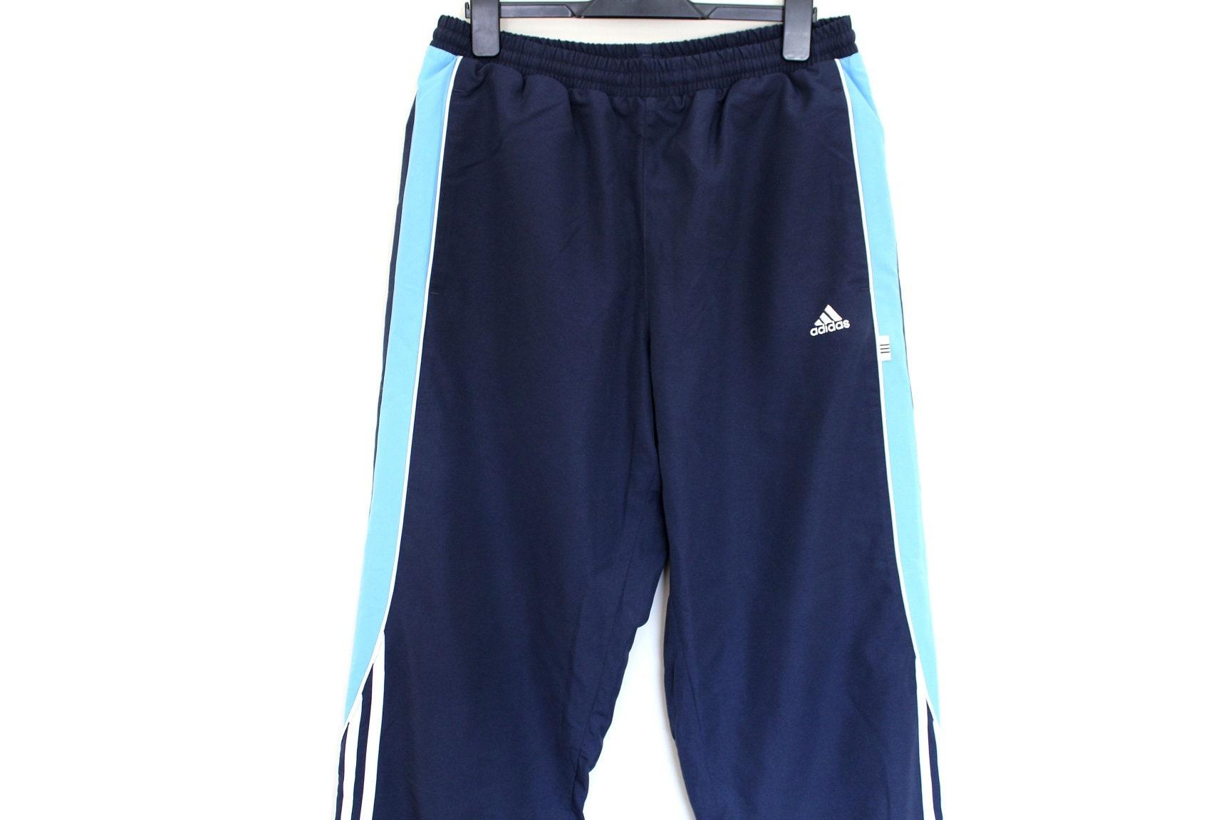 Blue Adidas Pants Vintage Adidas Trousers Hip Hop Streetwear  d6d505db12b3