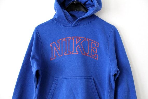 Vintage Nike Sweatshirt 90\u0027s Nike Hoodie Blue Nike Sport Sweater Retro Nike  Sportswear Hip Hop Streetwear Rare Nike Jacket Size Junior M