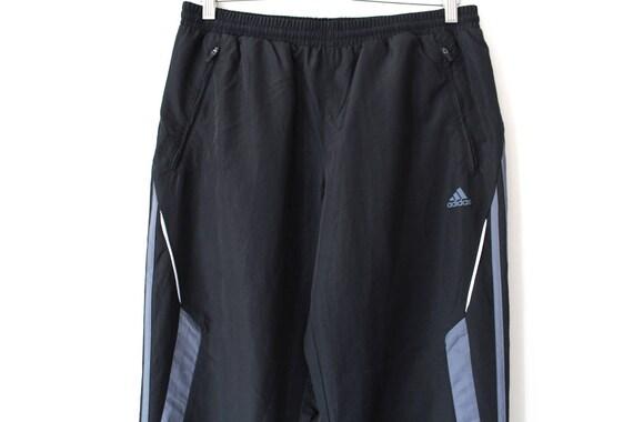 90's Adidas Pants Vintage Adidas Sport Pants Black Wind Adidas Pants Adidas Windbreaker Athletic Running Pants Adidas Track Bottoms Size M