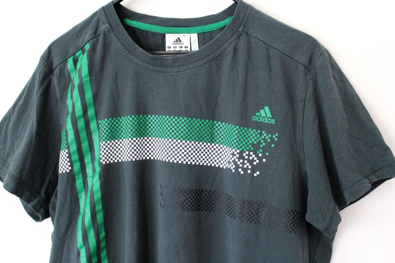 79ea8437e6b7 Vintage Adidas Shirt Short Sleeves Green Adidas T Shirt Adidas
