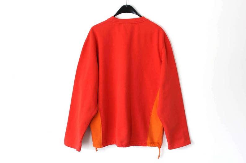 3ae70f0157d0a Vintage Adidas Sweatshirt 90's Adidas Jumper Hip Hop Streetwear Red Orange  Adidas Sweater Retro Unisex European Model Adidas Track Jacket
