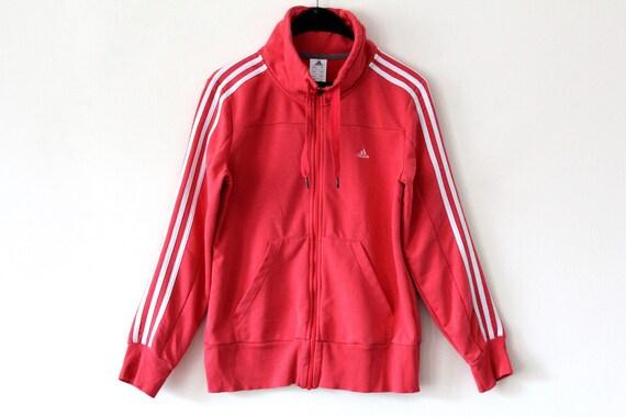 Vintage Adidas Jacket Coral Windbreaker Rare Sweatshirt Sport Jacket Retro Hip Hop Tennis Tracksuit Women's Size M