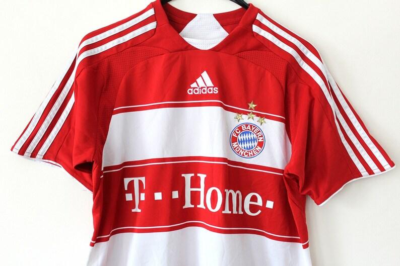 Vintage Adidas FC Bayern Munchen Shirt Red White Home Bundes  b223e97ac
