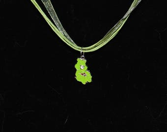 Green Care Bear Necklace