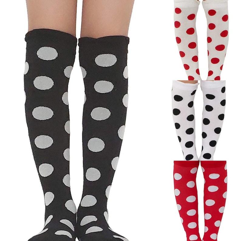 Polka Dot Knee High Socks