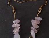 Raw mineral beads earrings