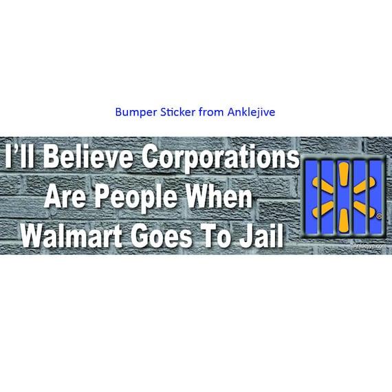Te creo las corporaciones son personas cuando Walmart va a la | Etsy