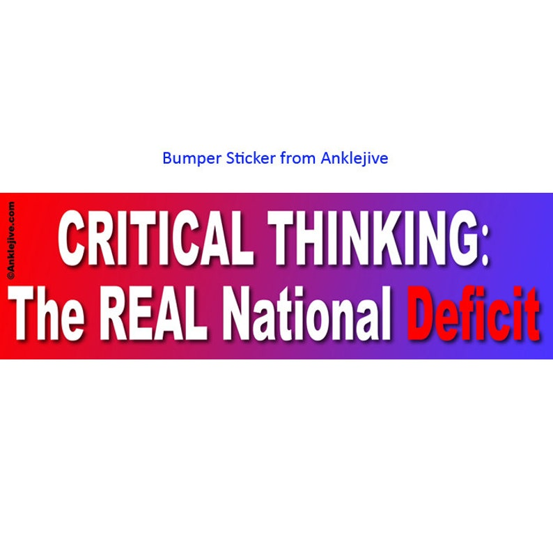 CRITICAL THINKING The Real National Deficit  Progressive image 0