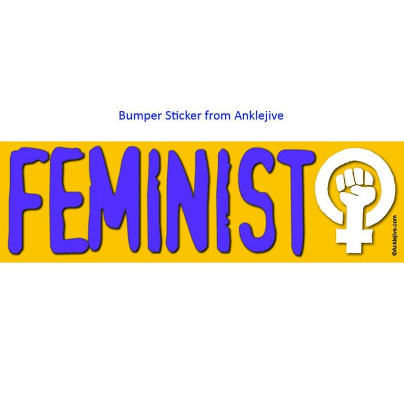 FEMINIST  High-quality UV-Coated Laptop/Window/Bumper image 0