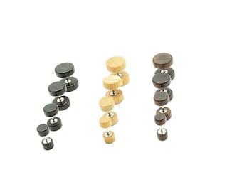 BU23 TT 8//10mm I/&ME Epoxy UV Acrylic Fake Ear Plug Earrings 2020 NEW