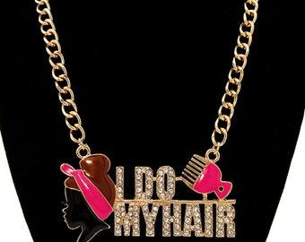 I DO MY HAIR chain neckless