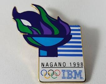 1998 Nagano IBM Olympic Pin | Winter Olympics | 1990s 90s