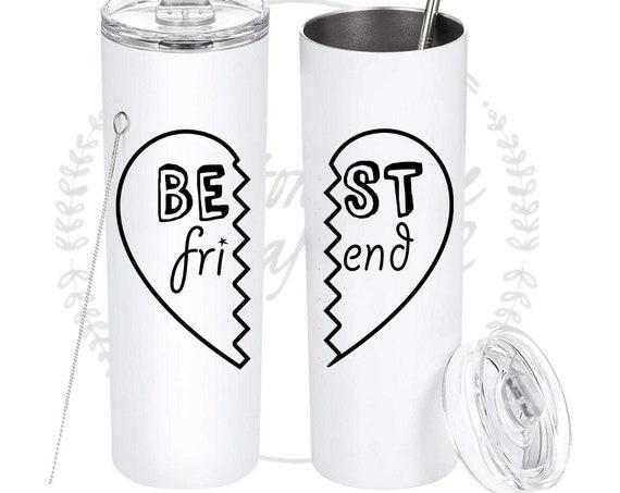 Best Friend Tumbler, BFF Tumbler, Best Friend Hearts, Matching Heart Tumblers, Girlfriends