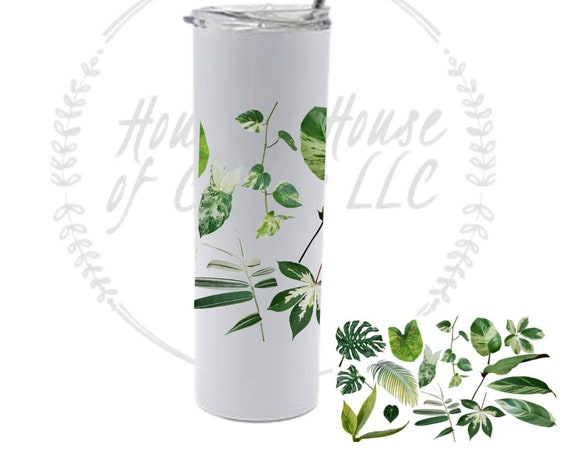 Variegated Tropical Plants Tumbler, Tropical Plants, Plant Tumbler, Bamboo Tumbler