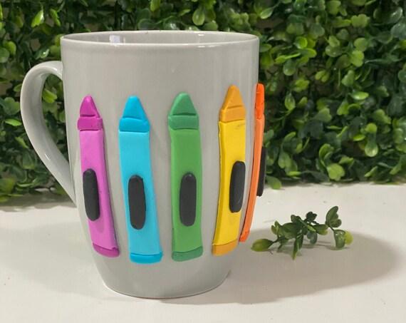 Crayon Mug, Crayon Cup, Teacher Appreciation Cup, Teacher Appreciation Mug, Teacher Mug, Teacher Cup, Crayon Gift Mug, Crayon Gift Cup