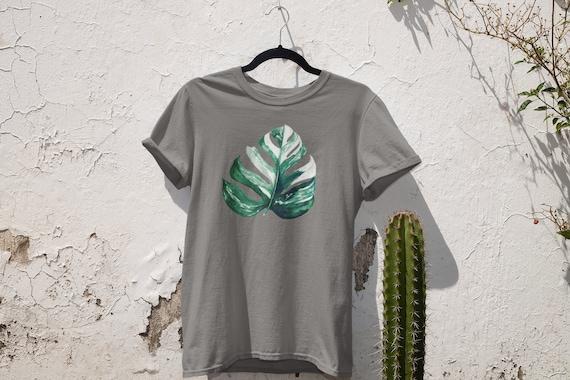 Albo Monstera Tee, Monstera Tee, Plant Shirt, Tropical Plant Shirt, Variegated Monstera Shirt, Variegated Plant Shirt