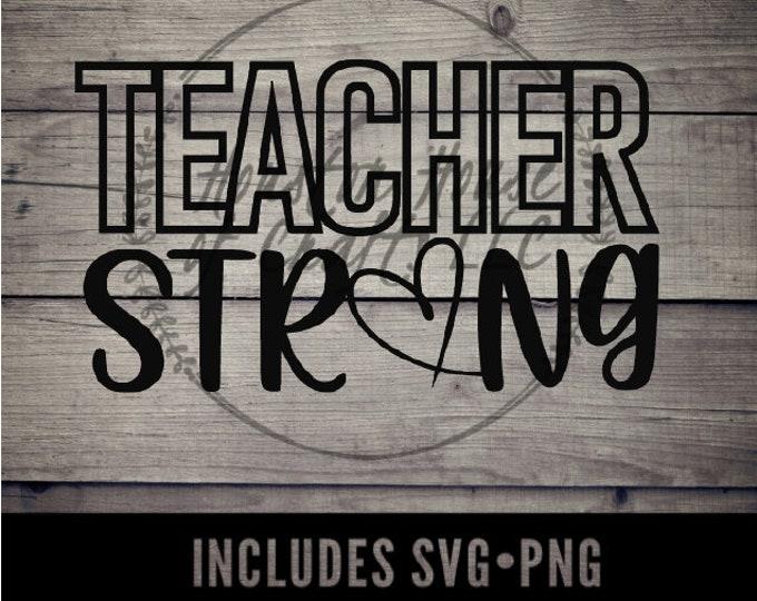 Teacher Strong Svg, Virtual Teacher Svg, Teacher Strong Digital, Teacher Strong Png, Distance Learning, Online Teacher, Distance Learning