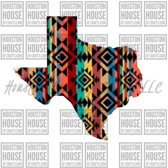 Aztec Serape Texas, Sublimation, Waterslide, Printable Vinyl, Digital Download, Texas Pride, PNG