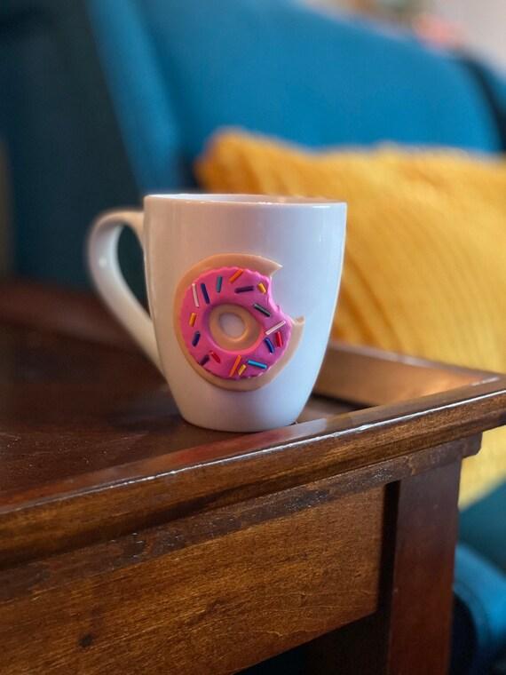 Donut Mug, Donut with Sprinkles, Donut Cup, Sprinkled Donut Cup, Doughnut Cup, Doughnut Sprinkles, 3D Donut